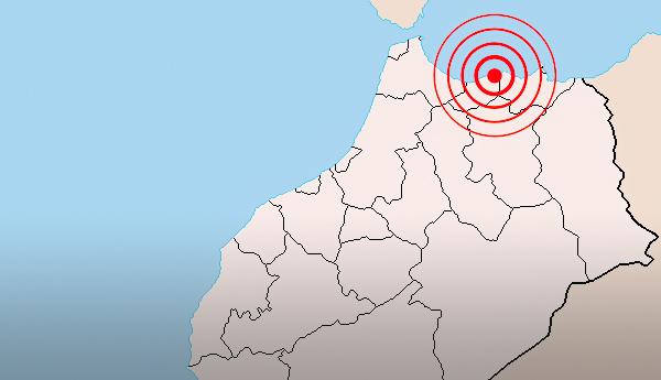 زلزال بقوة 4,7 درجات يضرب إقليم الحسيمة