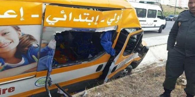 خطير.. هذه تفاصيل حادث اصطدام حافلة للنقل المدرسي بسيارة بطنجة