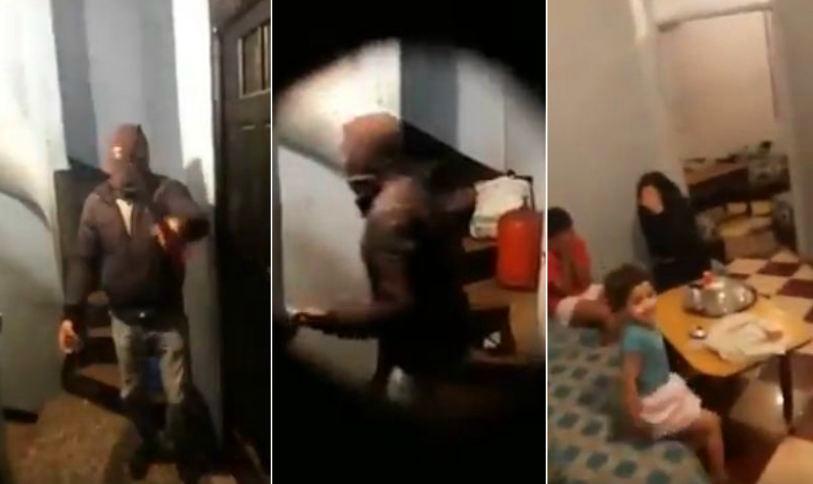 فيديو محاولة الهجوم واقتحام مُلثمين لمنزل بالسيوف يهُز مواقع التواصل
