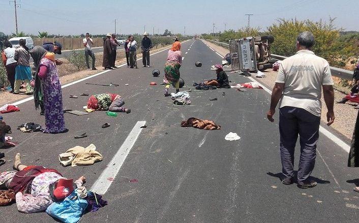 """30 إصابة في حادث انقلاب """"بيكوب"""" بسيدي بنور"""